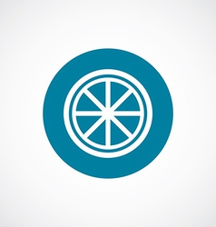 orange tripod icon bold blue circle border vector image vector image