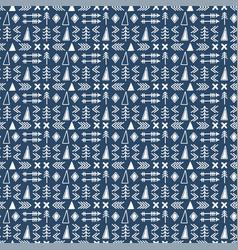 seamless ethnic pattern scandinavian pattern vector image vector image