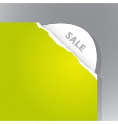 torn paper sale sign vector image