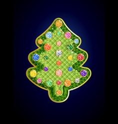 gemstone Christmas tree vector image vector image