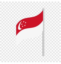 singapore flag isometric icon vector image vector image