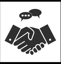 business people handshake in grey colors vector image