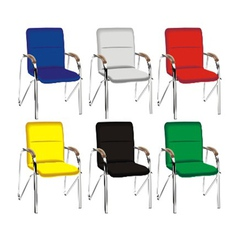 color metal chair vector image