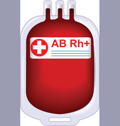 donor blood vector image