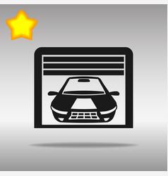 garage black icon button logo symbol vector image vector image