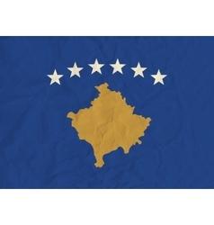 Kosovo paper flag vector image vector image