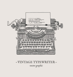 retro typewriter vintage vector image vector image