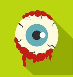 zombie eyeball icon flat style vector image