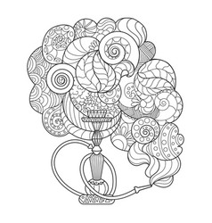 abstract hookah coloring book vector image