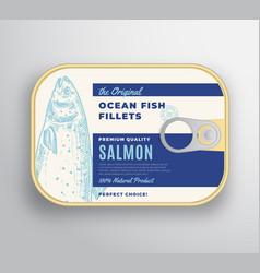 Abstract ocean fish fillets aluminium vector