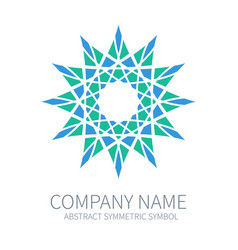 abstract symmetry circle logo harmony polygon vector image