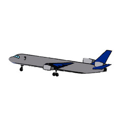 Airplane flying commercial travel airline concept vector