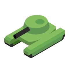 Army tank isometric 3d icon vector image