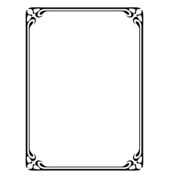 Art nouveau black ornamental decorative frame vector