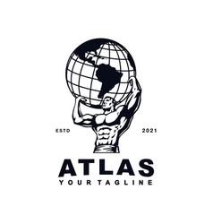 Atlas globe logo designs inspiration logo design vector