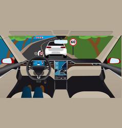 Autonomous self-driving car vector