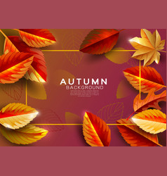 autumn background decorate with falling leaves vector image