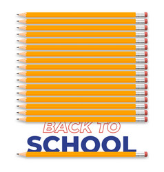 back to school creative design with realistic vector image
