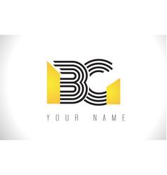 bg black lines letter logo creative line letters vector image