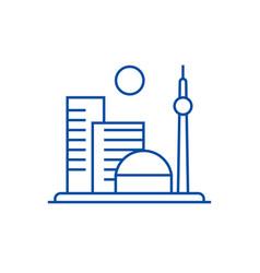 big city line icon concept big city flat vector image