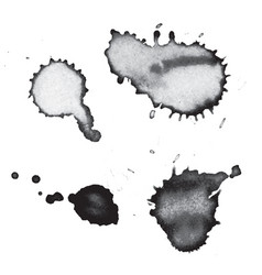Black ink drips and splatters vector