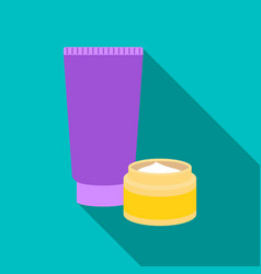 body creams icon in flat style isolated on white vector image