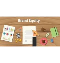 Brand equity value valuation with vector