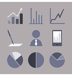 Business analytical icons with graphs vector