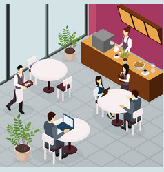 business lunch people flyer vector image