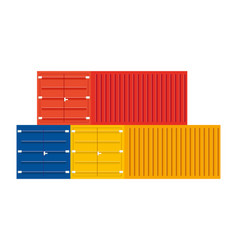 Cargo containers icon vector