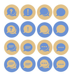 chat sign icon speech talk bubble symbols chat vector image