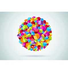 Colorful cubes form a circle vector image