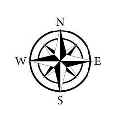 Compass icon nautical for travel vector