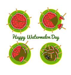 concept for the national watermelon day vector image
