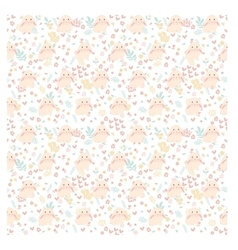 Cute rabbit seamless pattern on vector