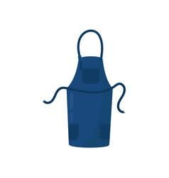 dark blue kitchen apron with three pockets vector image
