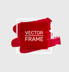 Draw paint red frame art poster vector