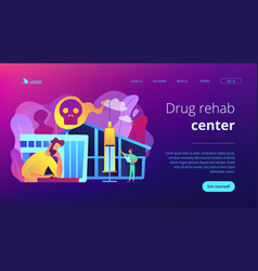 Drug rehab center concept landing page vector