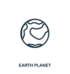 earth planet icon flat style icon design ui vector image