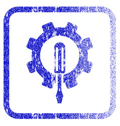Engineering framed textured icon vector