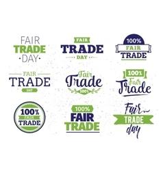 Fair trade day typographic design vector image