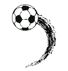 flying soccer ball vector image