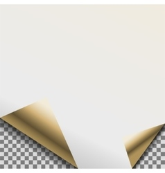 Folded pearl white foil blank note planner vector
