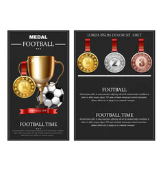 football world cup prize and medals vector image