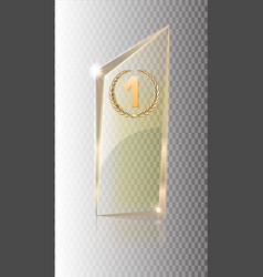 glass transparent banner glass plates with vector image