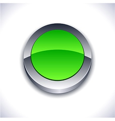 Glossy 3d button vector image