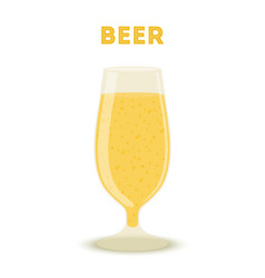 golden beer in glass alcohol baverage vector image
