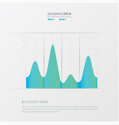 Graph and infographic design blue color vector