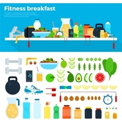 Healthy and nutritious breakfast vector image