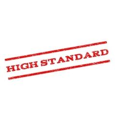 High Standard Watermark Stamp vector image